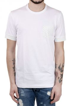 Cotton T-shirt with Pois Details