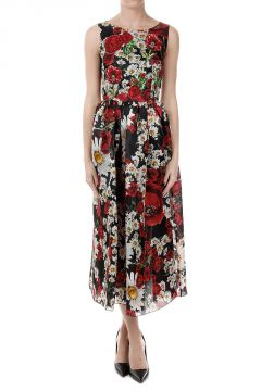 Floral Pattern Embroidered Dress