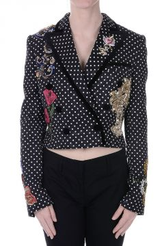 Embroidery Brocade Blazer
