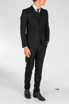Virgin Wool Blend 3 Pieces Suit