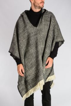 Herringbone Hooded Poncho
