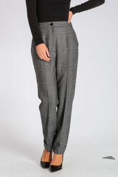 Pantaloni in Lana Vergine Principe di Galles