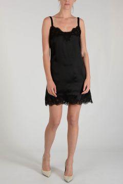 Mixed Silk Laced Dress