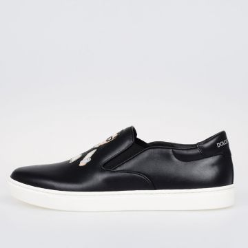 Sneakers Slip on LONDON in Pelle