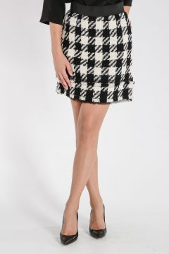 Checked Virgin Wool Skirt