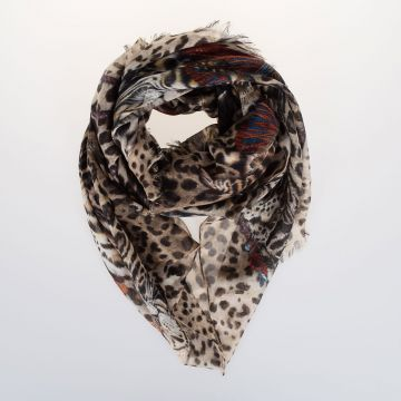 180x140cm  Wool and Cashmere Scarf