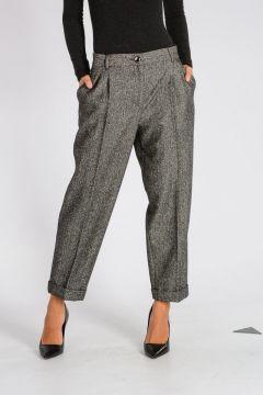 Herringbone Wool Blend Pants