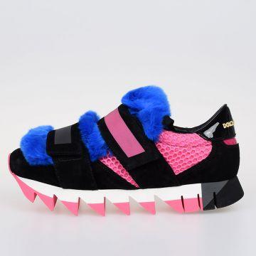 Sneakers CAPRi con Pelliccia di Coniglio