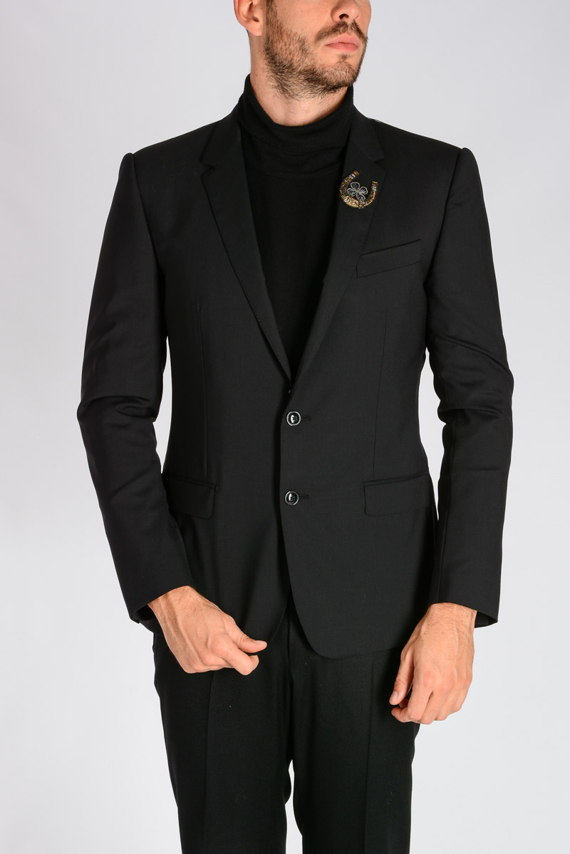 23bf2a5d01d10 Dolce   Gabbana Uomo Giacca In Lana Vergine Stretch - Glamood Outlet