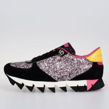 Leather GLITTER CAPRI Sneakers