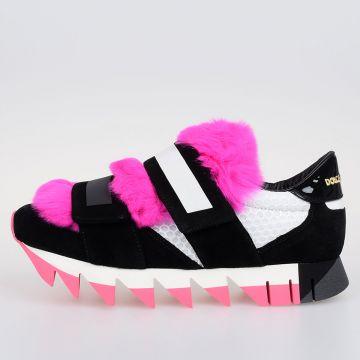 Sneakers CAPRi con Pelliccia di Lapin