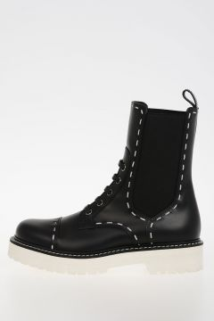 Leather SAN PIETRO HUMMER Flats Boots