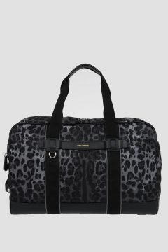 Borsa in Nylon Leopardato