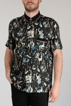 Short Sleeves Silk Shirt