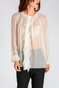 Ruffled Silk Top