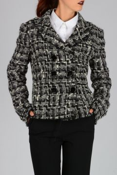 Wool Blend Knitted Jacket
