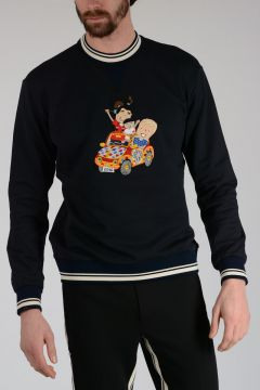 DG FAMILY Sweatshirt with Embroidery