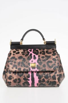 Mini Borsa In Pelle Leopardata