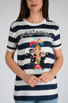 T-shirt #dgfamily Ricamata