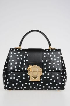 Pois Printed Leather Hand Bag