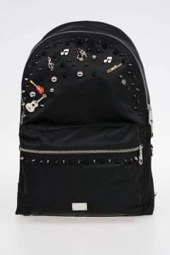 Studded Nylon Back Pack