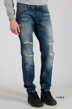 17cm Distressed Jeans with Embroidery