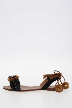 Rafia Flat BIANCA Sandals