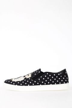 Slip On Pois Fabric Sneakers