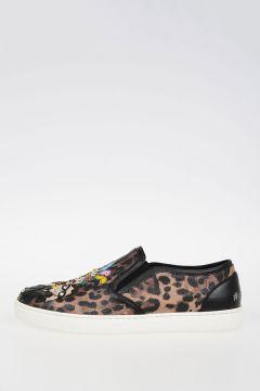 Leopard Printed Slip Ons