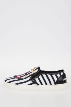 Striped Slip Ons