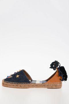 Studded Denim Leather sandals