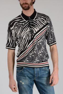 Silk Striped Polo