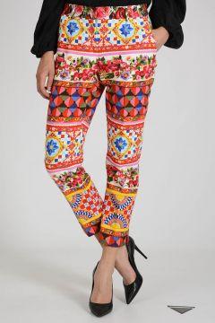 Stretch Cotton Capri Pants