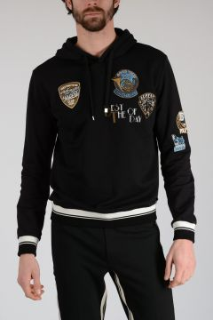 Hoodie Sweatshirt with Embroidery