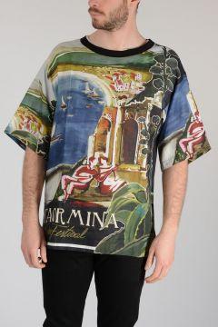 Printed Linen T-shirt