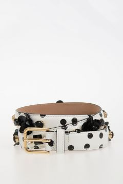 25mm Leather Pois Printed Belt
