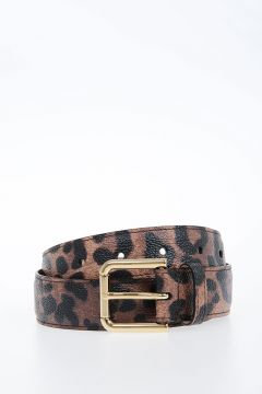 30mm Leo Printed Leather Belt