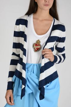 Silk Striped Cardigan