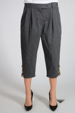 Cotton Virgin Wool Blend Pants