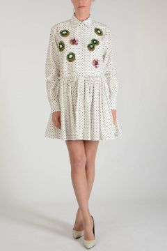 Embroidered Dots Dress with Paillette