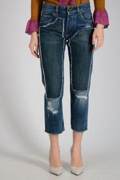 17cm Sequinned Bicolor Denim Jeans