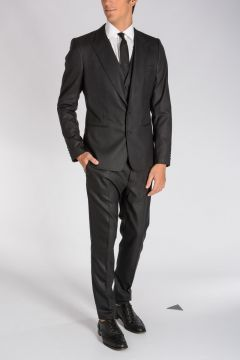 Stretch Virgin Wool & Silk 3 Pieces Suit