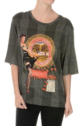 T-shirt con Stampa SANGUINELLA