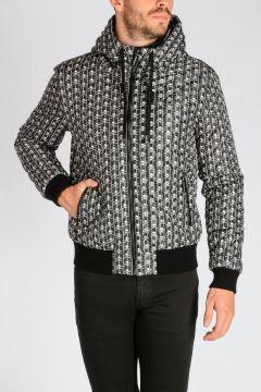 Skull Print Nylon Jacket
