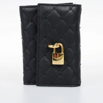 Quilted Leather French Flap Wallet