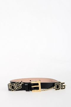Leather and Metal Belt 15 mm