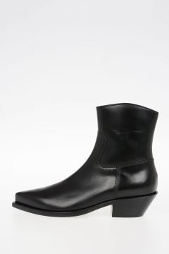 5cm Leather Ankle Boots
