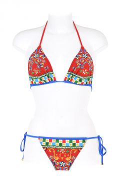 Bikini a Triangolo in Misto Nylon