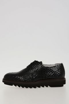 Woven Leather Laced Derby