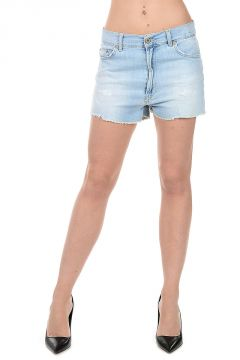 Denim stretch Shorts UP&DOWN